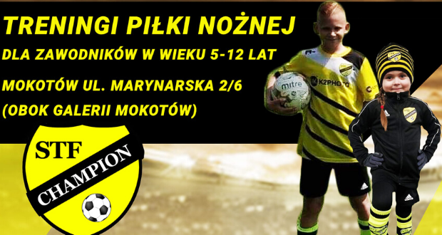 STF Champion prowadzi treningi piłkarskie dla dzieci na Mokotowie tuż obok Galerii Mokotów❗️💪